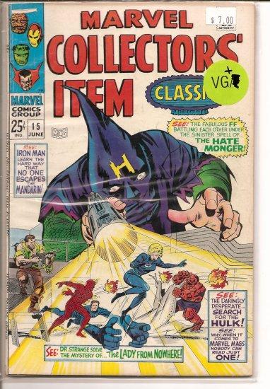 Marvel Collectors Item Classics # 15, 4.5 VG +