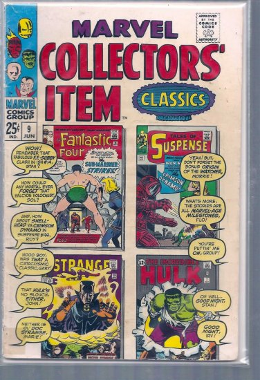 MARVEL COLLECTORS' ITEM CLASSICS # 9, 4.0 VG