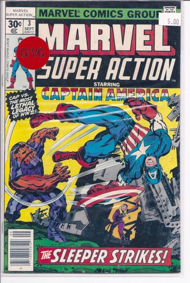 Marvel Super Action # 3, 3.0 GD/VG