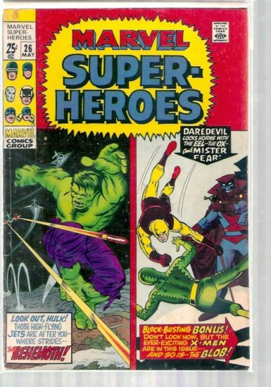 MARVEL SUPER-HEROES # 26, 4.0 VG
