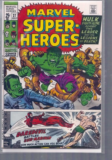MARVEL SUPER-HEROES # 27, 4.5 VG +