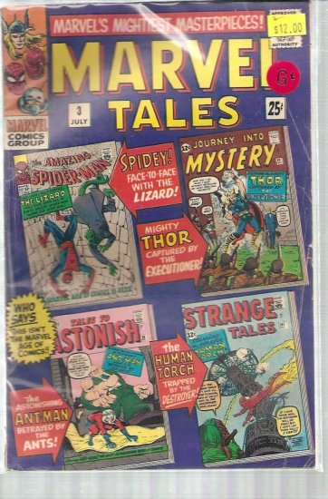 MARVEL TALES # 3, 2.5 GD +