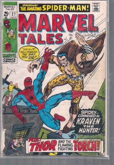 MARVEL TALES # 27, 1.8 GD -