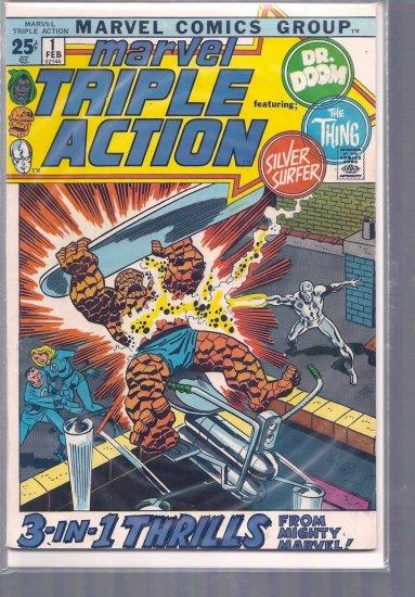 MARVEL TRIPLE ACTION # 1, 4.0 VG