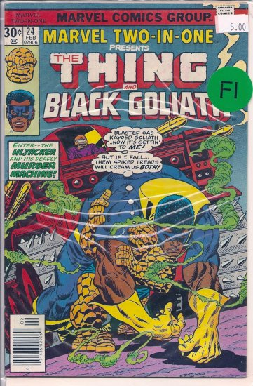 Marvel Two-In-One # 24, 6.0 FN