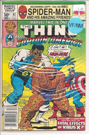 Marvel Two-in-One # 82, 9.0 VF/NM