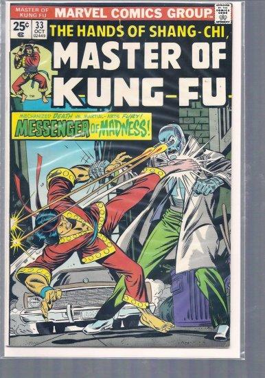 MASTER OF KUNG FU # 33, 3.5 VG -