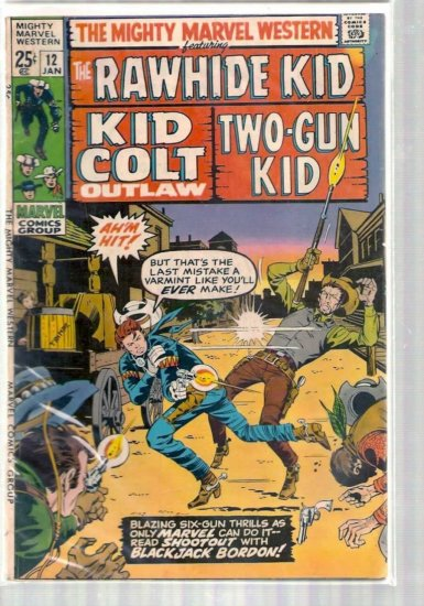 MIGHTY MARVEL WESTERN # 12, 4.0 VG