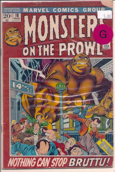 Monsters on the Prowl # 18, 2.0 GD