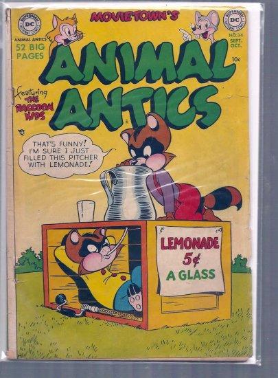 MOVIE TOONS ANIMAL ANTICS # 34, 2.5 GD +