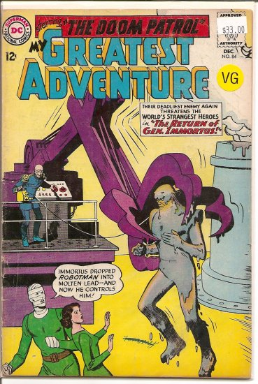 My Greatest Adventure # 84, 4.0 VG
