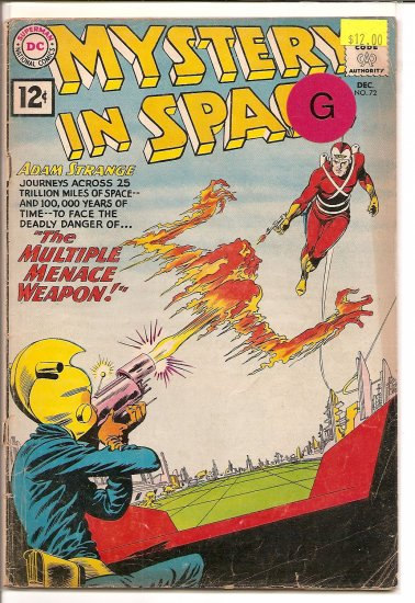 Mystery in Space # 72, 2.0 GD
