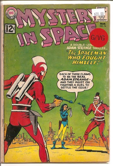 Mystery in Space # 74, 3.0 GD/VG