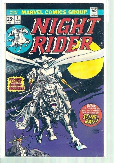 NIGHT RIDER # 4, 4.5 VG +