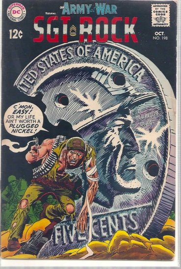 OUR ARMY AT WAR # 198, 3.5 VG -