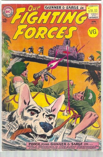OUR FIGHTING FORCES # 75, 4.0 VG