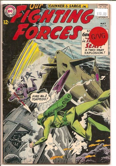 Our Fighting Forces # 76, 3.0 GD/VG