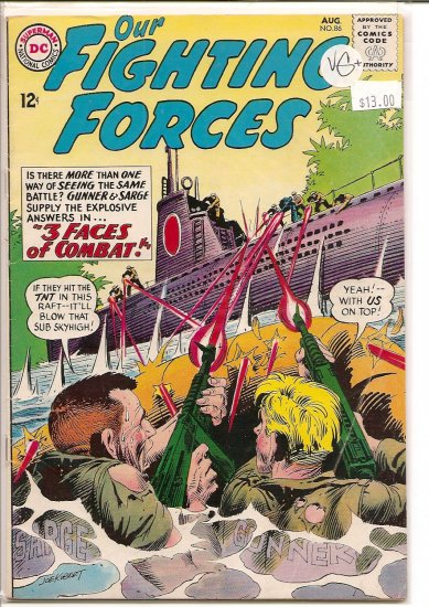 Our Fighting Forces # 86, 4.5 VG +