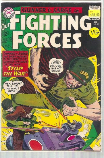 OUR FIGHTING FORCES # 90, 4.5 VG +