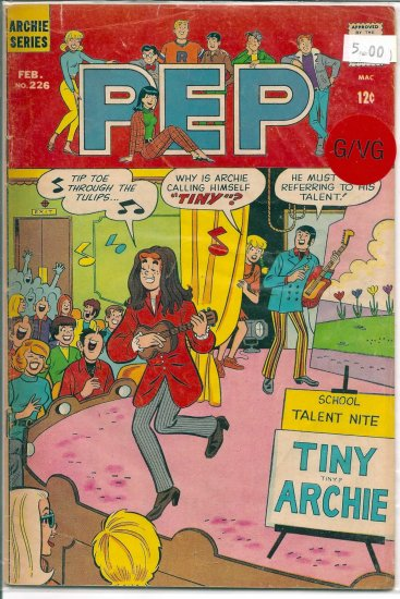 Pep Comics # 226, 3.0 GD/VG