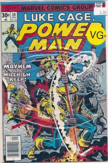 Power Man # 39, 4.5 VG +