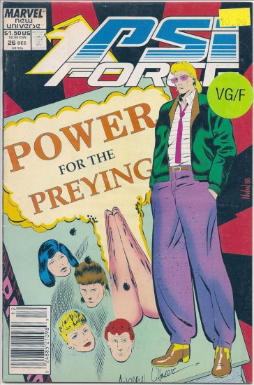 PSI Force # 26, 5.0 VG/FN