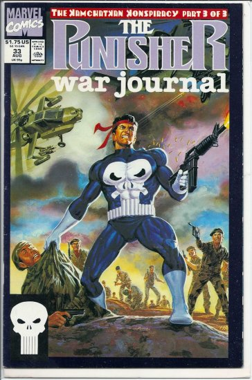 PUNISHER WAR JOURNAL # 33, 8.0 VF
