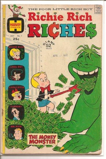 Richie Rich Riches # 1, 2.5 GD +
