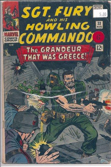 Sgt. Fury # 33, 2.0 GD