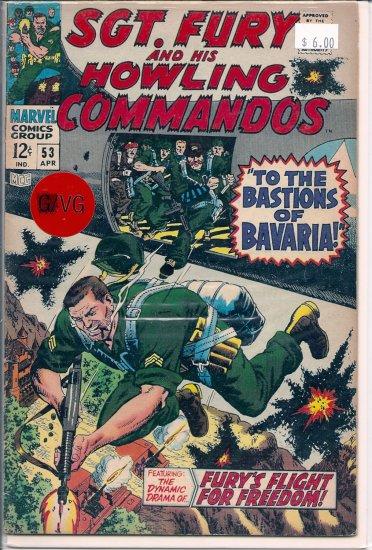 Sgt. Fury # 53, 4.0 VG