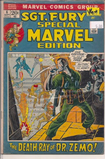 Special Marvel Edition # 6, 4.5 VG +