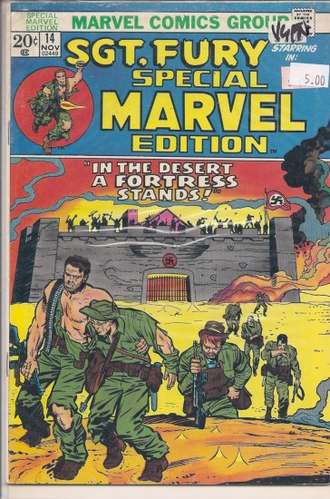 Special Marvel Edition # 14, 5.0 VG/FN