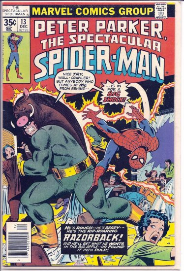 SPECTACULAR SPIDER-MAN # 13, 4.5 VG +