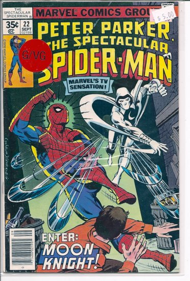 Spectacular Spider-Man, Peter Parker # 22, 3.0 GD/VG
