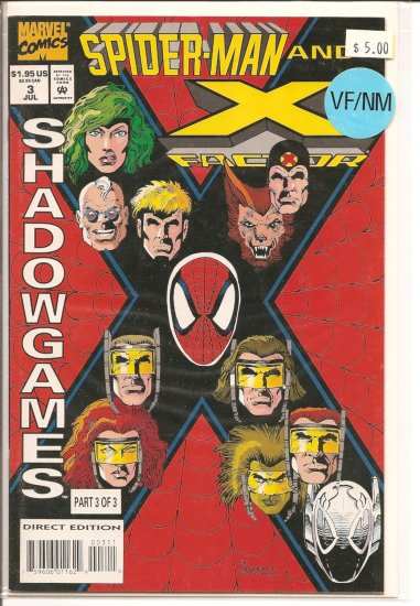 Spider-Man and X-Factor # 3, 9.0 VF/NM