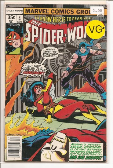 Spider-Woman # 4, 4.5 VG +