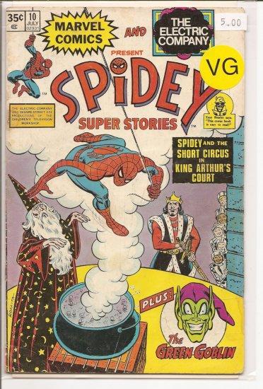 Spidey Super Stories # 10, 4.0 VG