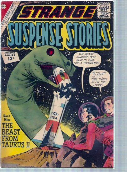 STRANGE SUSPENSE STORIES # 62, 4.5 VG +