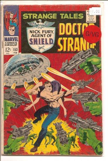 Strange Tales # 153, 3.0 GD/VG