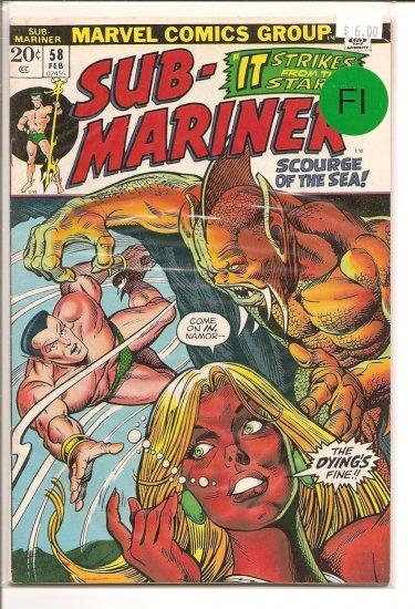 Sub-Mariner # 58, 6.0 FN