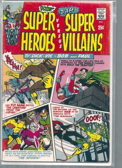 SUPER HEROES VERSUS SUPER VILLIANS # 1, 4.0 VG