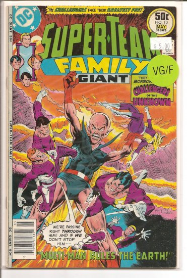 Super-Team Family # 10, 5.0 VG/FN