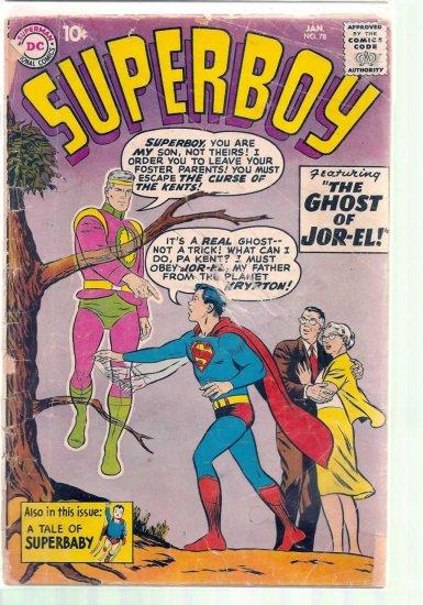 SUPERBOY # 78, 1.0 FR