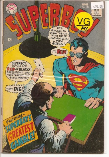 Superboy # 148, 5.0 VG/FN