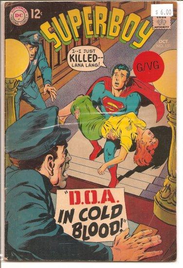 Superboy # 151, 3.0 GD/VG