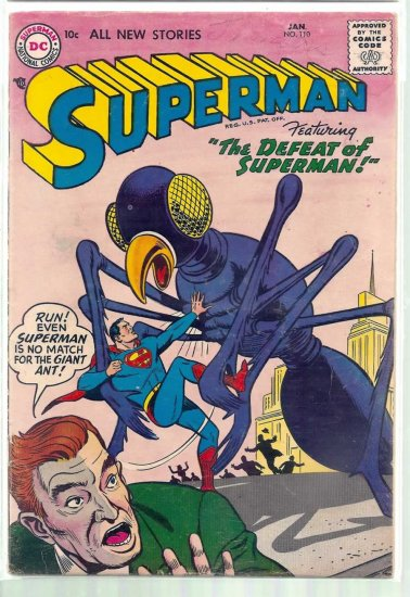 SUPERMAN # 110, 4.5 VG +
