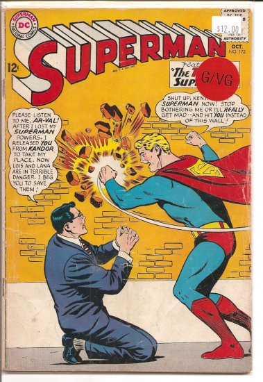 Superman # 172, 3.0 GD/VG