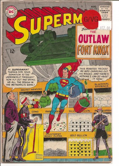 Superman # 179, 3.0 GD/VG