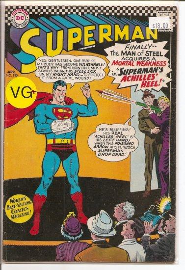 Superman # 185, 4.5 VG +