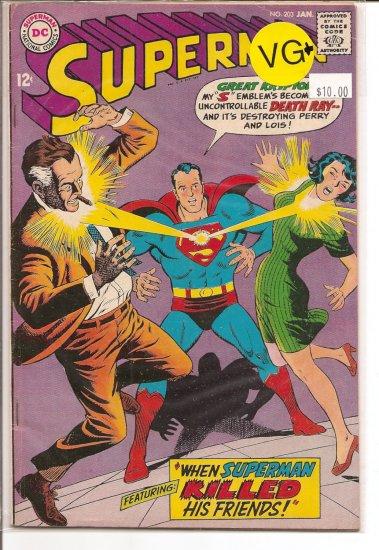 Superman # 203, 4.5 VG +